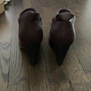 Crown Vintage Shoes - Crown Vintage Naydine Purple Suede Booties